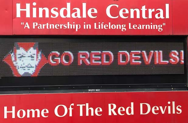 Hinsdale High School Marquee